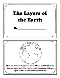 Layers of the Earth Printable Book | free
