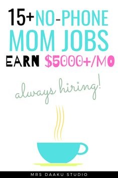 These non phone work at home jobs for A list of flexible online jobs that are suitable for stay at home moms with no experience. Stay At Home Mom Jobs. How to make money from home as a mom. Financial Tips. Mom jobs with family. Stay At Home Mom, Work From Home Moms, Make Money From Home, Way To Make Money, Work At Home Jobs, Earn Money Online, Online Jobs, Online Income, Online College