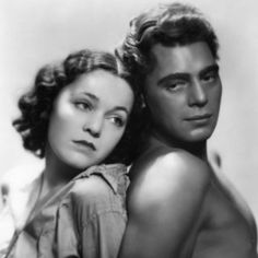 Maureen O'Sullivan and Johnny Weissmuller - Photo by George Hurrell from Tarzan The Ape Man Maureen O'sullivan, Old Hollywood Movies, Golden Age Of Hollywood, Hollywood Stars, Classic Hollywood, Hollywood Glamour, George Hurrell, Tarzan Movie, Tarzan Series