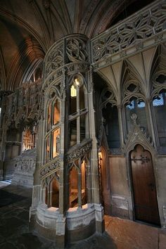 Ely Cathedral - Cambridgeshire  ::  Spiral stairs in the north choir aisle