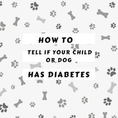 How to tell if your child or dog has Diabetes