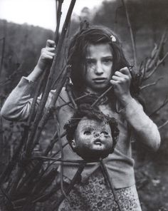 Arthur Tress - Girl with Doll Head, West Virginia, 1968