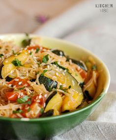 Veggie Recipes, Healthy Dinner Recipes, Vegetarian Recipes, Cooking Recipes, Rice Pasta, Vegetable Pasta, Paleo, Tasty Dishes, Curry