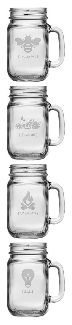 Buzzed Drinking Jar Set