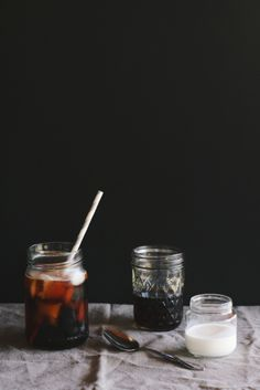 quick iced coffee + raw sugar simple syrup | the thoughtful plate