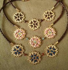 Collar en #piel #chapadeoro  #necklace #bisuteria #jewelry #joyeria #leather #goldplated