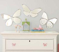 un sutil detalle con espejos- mariposas