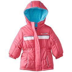 c2b9aba79084 Pink Platinum Little Girls Fleece Lined Down Alternative Puffer Winter  Jacket - Pink (Size 3T