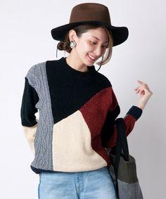 LAYMEE(レイミー)の「Nutley knit(ニット/セーター)」|ブラック