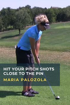 Learning how to hit accurate pitch shots requires control of the carry distance, trajectory, bounce and roll. Maria Palozola shows how to master these four factors. #golf #golftip #golfswing #golflessons #womensgolf Golf Wedges, Golf Chipping Tips, Golf Books, Best Golf Courses, Golf Instruction, Golf Channel, Golf Putting, Golf Exercises