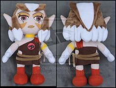 """a custom plush of Pumyra (also from """"ThunderCats"""", and also by A-chan--Creations on DeviantArt"""