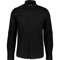 Black Button Down Collar Shirt - Casual Shirts - Shirts - Clothing - Men Shirt Outfit, Shirt Dress, Button Down Collar Shirts, Peter Blake, Tk Maxx, Sleeve Designs, Black Button, Button Downs, Casual Shirts