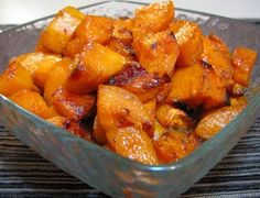 "easy and delicious recipe for roasted sweet potatoes.  Pinner Said: ""i tried them tonight and they were wonderful!  i'll be making this again for SURE!"""