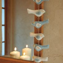 "From The Book ""Christmas in July"" It's The ""Little Birds Garland"" from Designer Lisa Jordan - Adorable!!"