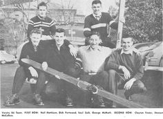 1950-51 Oregon ski team. From the 1951 Oregana (University of Oregon yearbook). www.CampusAttic.com