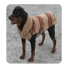 shawl collar dog sweater and its big enough for retrievers - Large Dog Christmas Sweaters