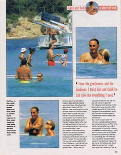 August Princess Diana with Dodi Al Fayed on a private summer 1997 St Tropez holiday, the final swim. Princess Diana And Dodi, Diana Dodi, Princess Diana Death, Princess Of Wales, Spencer Family, Lady Diana Spencer, Princesa Diana, Dodi Al Fayed, Diana Funeral