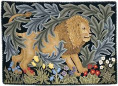 Beth Russell Needlepoint - Forest Collection - Lion Pillow/Hanging - Kit - Okay, I do not want ALL the needlepoint projects, but they are enjoyable to work on and some of them are kind of expensive so I hesitate to buy them for myself. So one or two would be nice. :)