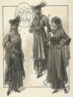 Mourning fashion - 1915-Inspiration for 1917 mourning