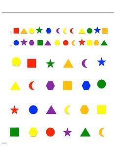 Guess Who Shapes - Printable game sheets for your Guess Who Game Board