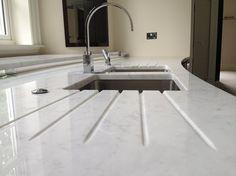 Marble draining board