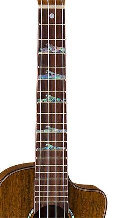 Luna Guitars High Tide Concert Koa Uke... like the inlays
