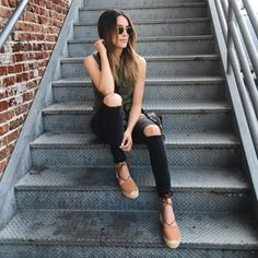 @ThriftsandThreads in Sanctuary Army Green Vest