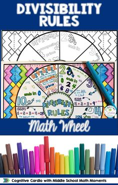 Home Decorations Collections Blinds Product Teaching Fractions, Teaching Math, Multiplication, Maths, Math Notebooks, Interactive Notebooks, Math Resources, Math Activities, Divisibility Rules