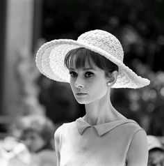 Audrey Hepburn photographed by Vincent Rossell during a break in the filming of Paris When It Sizzles, 1962