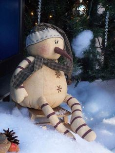 Leftover Snowman