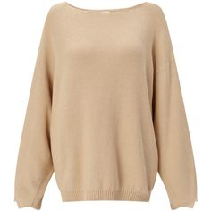 Orleans Jumper (1301140 PYG) ❤ liked on Polyvore featuring tops, sweaters, beige sweater, frill top, jumpers sweaters, flounce tops and beige top