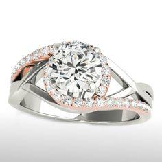 Angel Sanchez Ring 1 1 3 Ct Tw Diamonds 14k Two Tone Gold