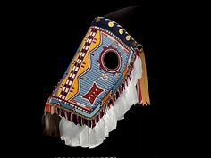 "Juanita Growing Thunder Fogarty (American, born 1969). Horse Mask, 2008. National Museum of the American Indian, Smithsonian Institution, Washington, D.C. (267046.000) | This work is featured in our ""Plains Indians: Artists of Earth and Sky"" exhibition on view through May 10, 2015. #PlainsIndians #horses"