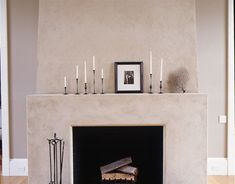 An Inside Look at the Barefoot Contessa's New Barn Web Exclusive:  The Fireplace | http://www.housebeautiful.com/decorating/ina-garten-barn-1108#slide-6