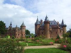 The medieval Castle De Haar in Utrecht is one of the largest castles of the Netherlands.
