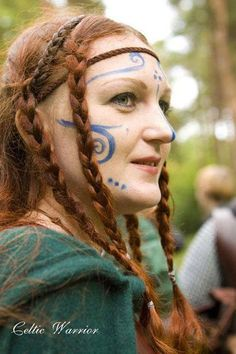 Irish woad and braids. Woad: An annual Eurasian plant (Isatis tinctoria) in the mustard family, formerly cultivated for its leaves that yield a blue dye. 2. The dye obtained from this plant. (from Old English wad)