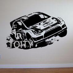 VW Golf Voiture De Rallye Mur Art Autocollant Motorsports Sticker Enfants Chambre Vinyle Murale dans Stickers muraux de Maison & Jardin sur AliExpress.com   Alibaba Group