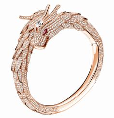 18k rose gold, diamond pavé and ruby bracele