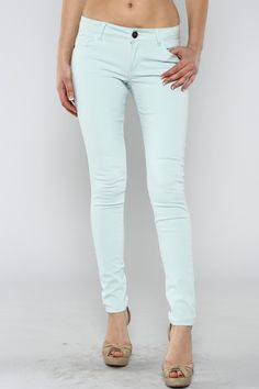 Spring Skinny Jeans Light Blue – Under The Eiffel Boutique