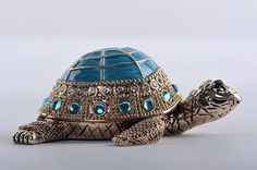 Faberge Turtle trinket box trinket box by Keren Kopal - Each item is made of pewter