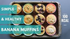 Low Fat Banana Muffins | Only 100 kcal each