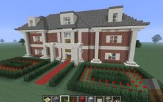 Rose Gardening Minecraft House, i like this one mostly because the garden gives me an idea for a fancy castle maze type rose garden with the hedges. Minecraft Mansion, Minecraft Castle, Minecraft City, Minecraft Plans, Minecraft House Designs, Amazing Minecraft, Minecraft Blueprints, Minecraft Creations, Minecraft Projects
