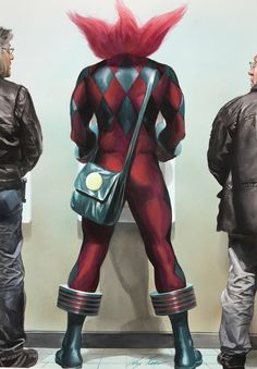 Alex Ross Astro City Painting by Comic Artist(s) Alex Ross - W.B.