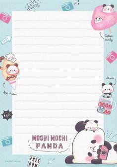Cute Panda Wallpaper, Kawaii Wallpaper, Cute Wallpaper Backgrounds, Cute Wallpapers, Pen Pal Letters, Cute Letters, Memo Notepad, Note Memo, Cute Notes