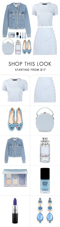 cropped pastel by bodangela on Polyvore featuring moda, Proenza Schouler, Acne Studios, Balmain, Charlotte Olympia, Handle, Natasha, MAC Cosmetics, Cartier and Eve Snow