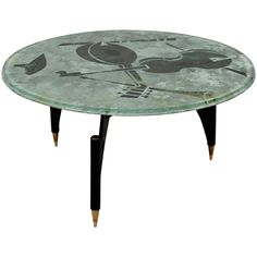 Coffee Table by Dube 'Duilio Barnabé' Fontana Arte, Italy, circa 1950   From a unique collection of antique and modern coffee and cocktail tables at https://www.1stdibs.com/furniture/tables/coffee-tables-cocktail-tables/