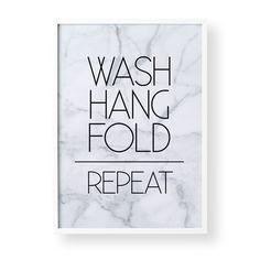 Wash Hang Fold Repeat Print