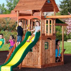 Backyard Discovery Woodland Cedar Swingset Outdoor Spaces Yard
