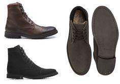 E as botas masculinas. Botas (R$ 266) e Toe Boot (R$ 226) da marca Ahimsa vendidas via e-commerce e eles tem sapatos até mochilas e malas! Os produtos são artesanais sustentáveis de qualidade e conta até com cortiça!