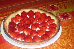 Tarte aux fraises, mascarpone à la vanille